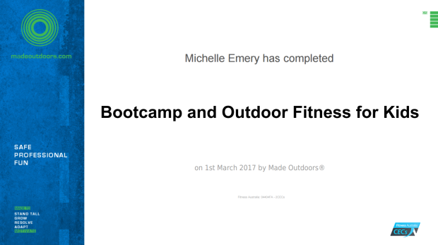 Bootcamp and Outdoor Fitness For Kids