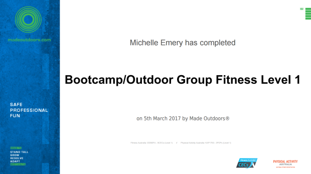 Bootcamp and Outdoor Fitness Level 1